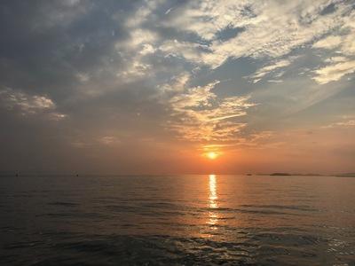 夕日ボート (2)
